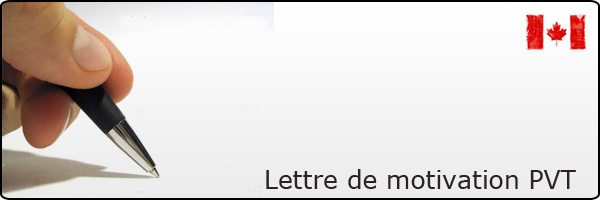 Lettre de motivation PVT Canada
