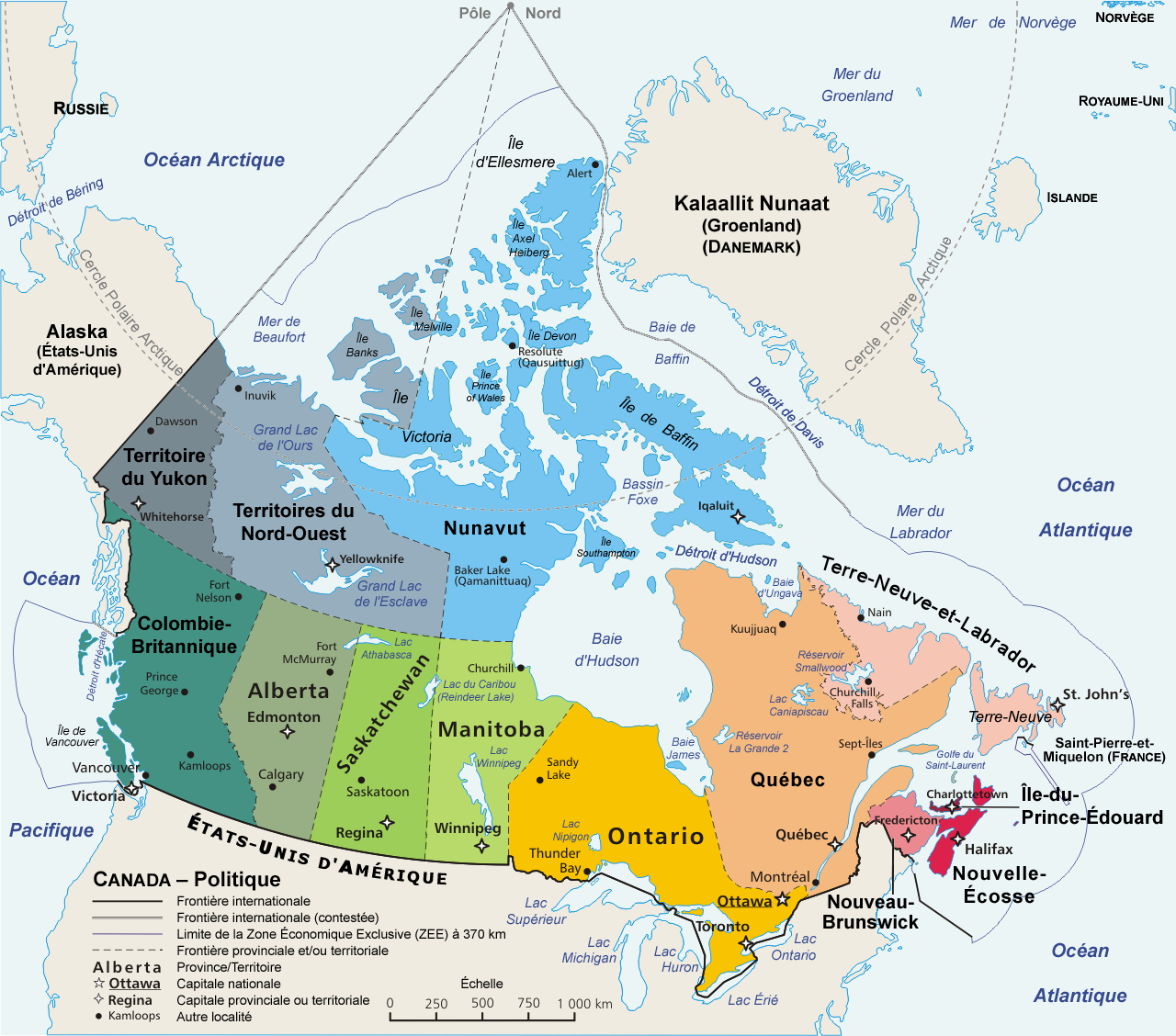 le canada geographie
