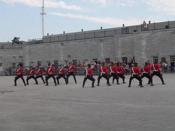 Démonstration des différentes formations de combat