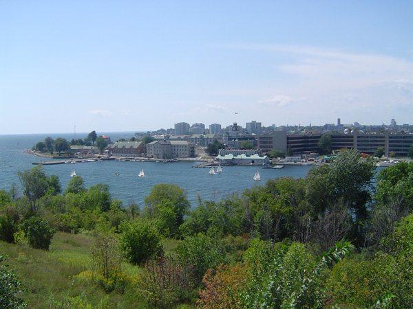 Vue sur le lac Ontario à Kingston