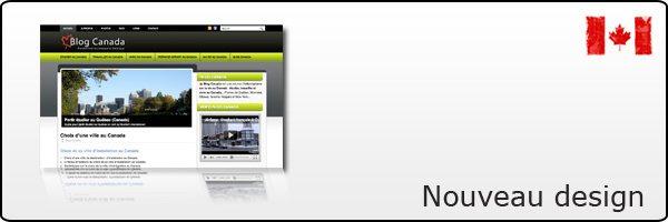 Un nouveau design pour Blog Canada !