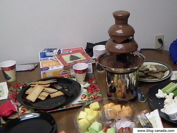 Photos de la fondue au chocolat - Noël 2011