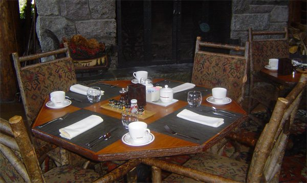 The whiteface lodge : Petit déjeuner