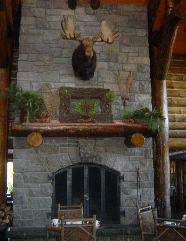 The whiteface lodge : Cheminée