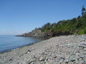 Une plage près d'Annapolis royal en Nouvelle-Écosse