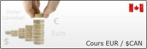 Cours Euro (€) et Dollar Canadien ($CAN)