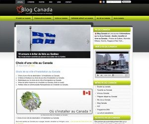 Nouveau design de Blog Canada