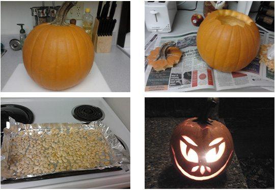 Préparation de notre citrouille d'Halloween