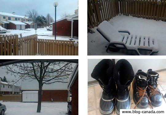 Les premières neiges 2011 à Ottawa (au réveil)