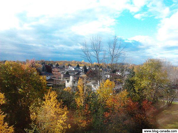 Vue depuis mon appartement à Ottawa (Ontario, Canada)