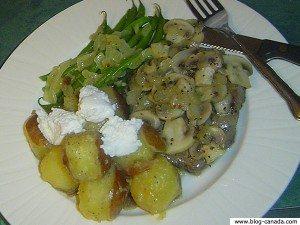 Patates et steak
