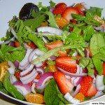 Salade avec des fruits
